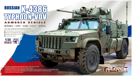 MENG-Model: Russian K-4386 Typhoon-VDV Armored Vehicle