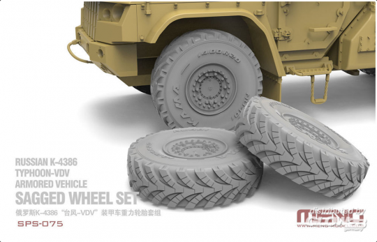 MENG-Model: Russian K-4386 Typhoon-VDV Armored Vehicle Sagged Wheel Set (RESIN)