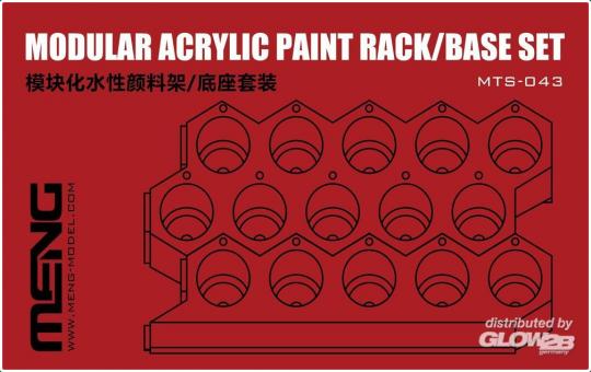 MENG-Model: Modular Acrylic Paint Rack/Base Set