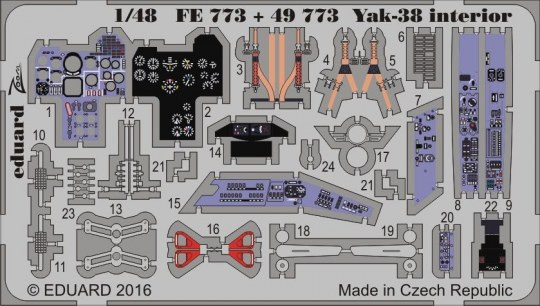 Eduard - Yak-38 interior for Hobby Boss