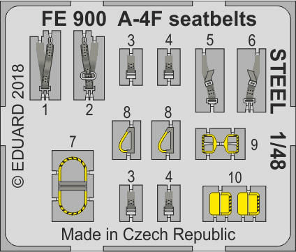 Eduard - A-4F seatbelts STEEL for Hobby Boss