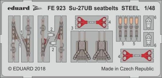 Eduard - Su-27UB seatbelts STEEL for Hobby Boss