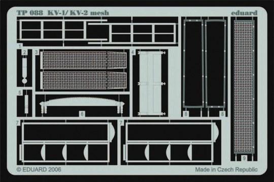 Eduard - KV-1/KV-2 mesh early für Trumpeter Bausatz
