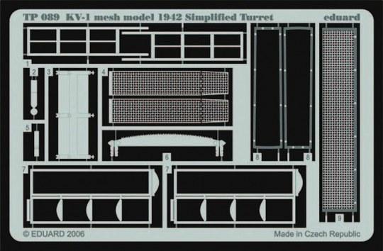 Eduard - KV-1 mesh Simplified turret für Trumpeter Bausatz