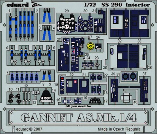 Eduard - Gannet AS.Mk.1/4 interior Für Trumpeter Bausatz
