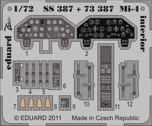 Eduard - Mi-4 interior S.A. for Hobby Boss