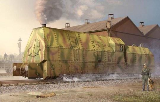 Trumpeter - Ger. Panzerlok BR57 Armoured Locomotive