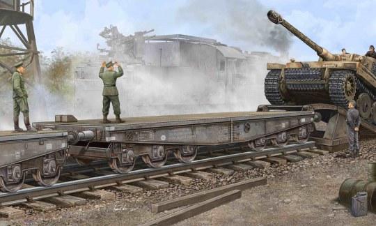 Trumpeter - Schwere Plattformwagen Type SSyms 80