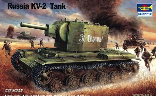 Trumpeter - Russischer Panzer KV-2