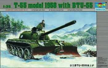 Trumpeter - Russischer Panzer T55 mit BTU-55
