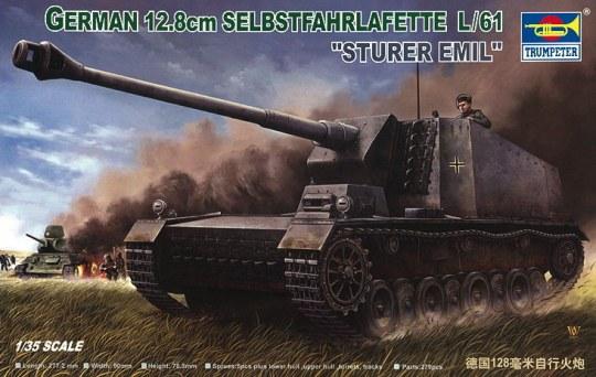 Trumpeter - Selbstfahrlafette 12,8 cm L/61 Sturer Emil