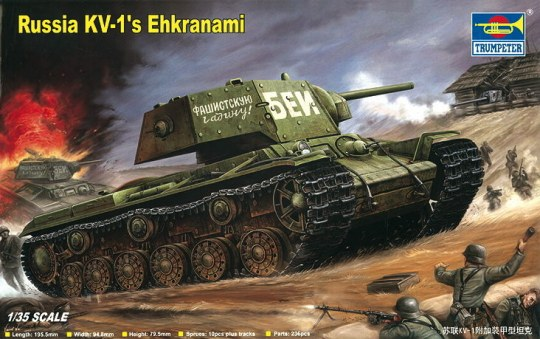 Trumpeter - Russian KV-1's Ehkranami