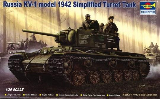 Trumpeter - Russischer Panzer KV-1, 1942 Einfacher Turm