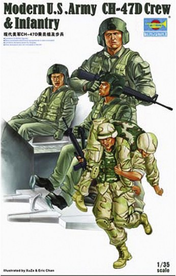Trumpeter - Modern U.S. Army CH-47D Crew & Infantry