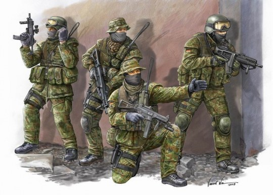 Trumpeter - Modern German KSK Commandos