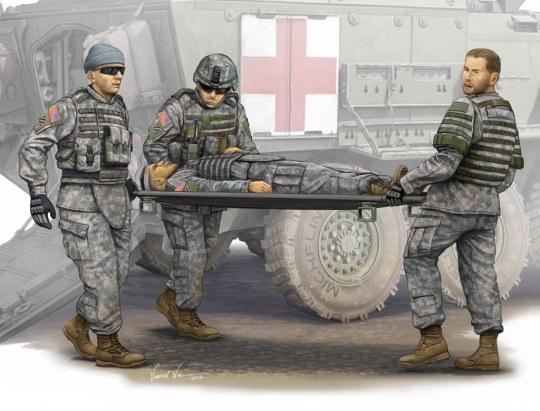Trumpeter - Modern U.S. Army-Stretcher AmbulanceTeam