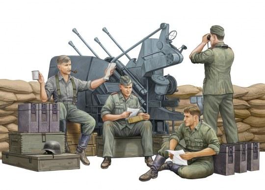 Trumpeter - German Anti-Aircraft Gun Crew