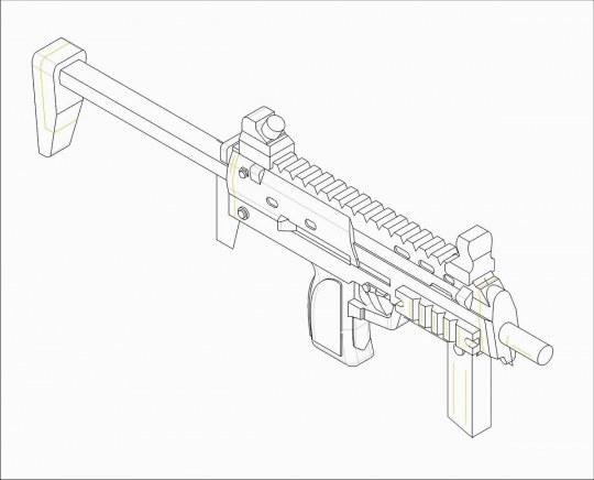 Trumpeter - German Firearms Selection-MP7 (6 guns)