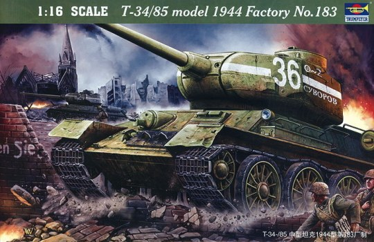 Trumpeter - T-34/85 1944 Baunummer 183