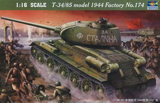 Trumpeter - T-34/85 1944 Baunummer 174