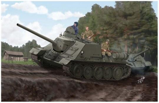 Trumpeter - Soviet SU-100 Tank Destroyer