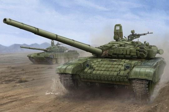 Trumpeter - Russian T-72B/B1 MBT(w/kontakt-1 reactiv armor)