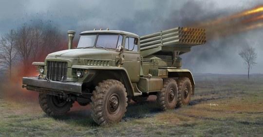 Trumpeter - Russian BM-21 Grad Multiple RocketLaunch