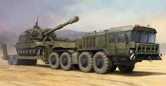 Trumpeter - Russian KZKT-7428 Transporter with KZKT- -9101 Semi Trailer