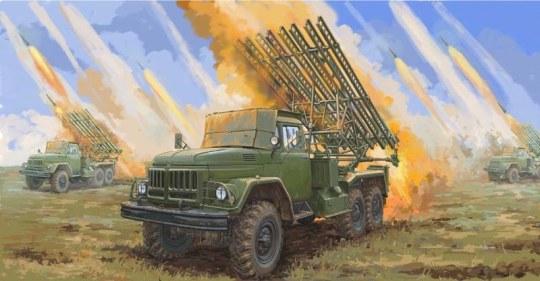 Trumpeter - Soviet 2B7R Multiple Rocket LauncherBM13 NMM