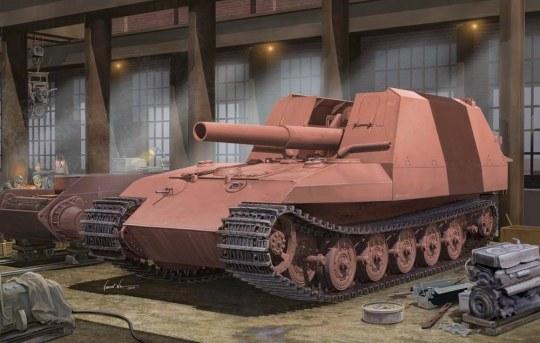 Trumpeter - Geschützwagen Tiger Grille21/210mm Morta
