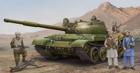 Trumpeter - Russian T-62 Mod.1975 (Mod.1962+KTD2)