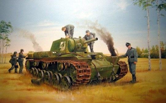 Trumpeter - Soviet KV-8 Heavy Tank
