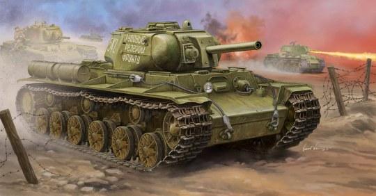 Trumpeter - Soviet KV-8S Heavy Tank
