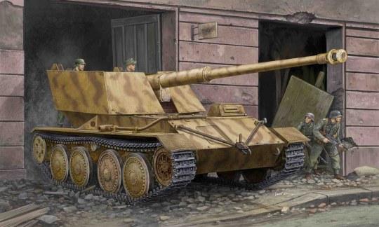 Trumpeter - Krupp/Ardelt Waffenträger 88mm PAK-43