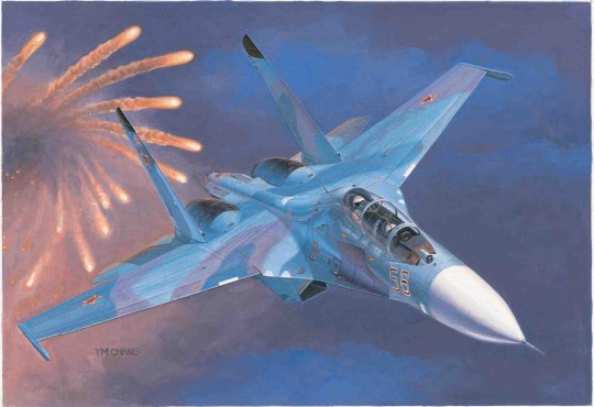 Trumpeter - Russian Su-27UB Flanker C Fighter