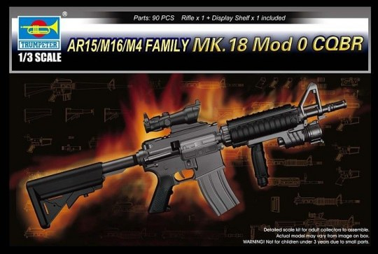 Trumpeter - AR15/M16/M4 FAMILY-MK.18 Mod o CQBR