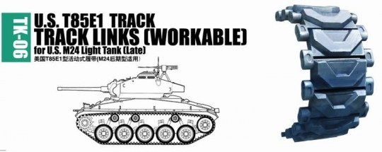 Trumpeter - U.S. T85E1 track for M24 light tank (late)