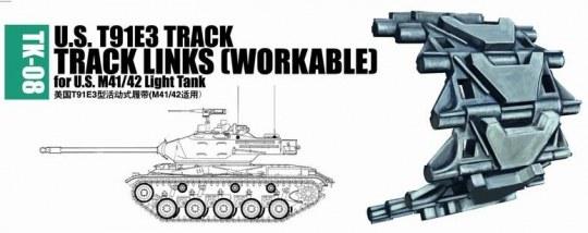 Trumpeter - U.S. T91E3 track for M41/42 light tank