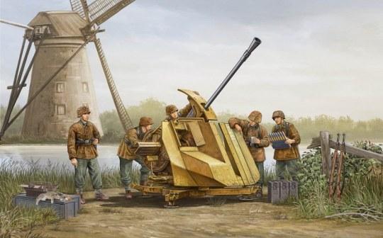 Trumpeter - FLAK 43 (German 3.7cm anti-aircraft gun)