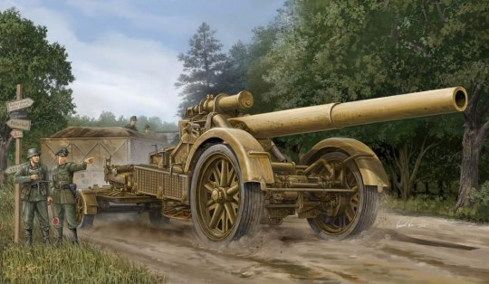 Trumpeter - German 21cm Morser 18 Heavy Artillery