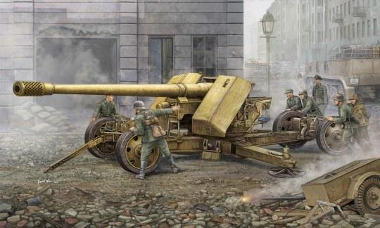 Trumpeter - German 128mm Pak44 (Krupp)