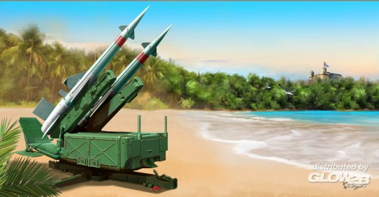 Trumpeter - Soviet 5P71 Launcher with 5V27 Missile Pechora (SA-3B Goa) Rounds Loaded