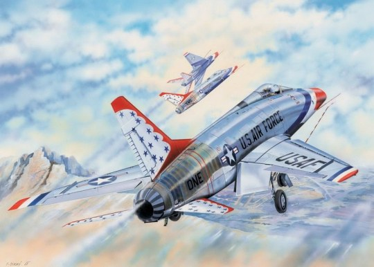 Trumpeter - F-100D in Thunderbirds livery