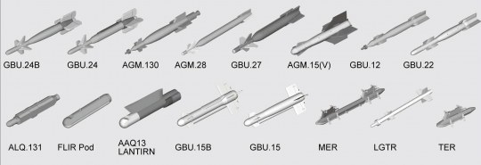 Trumpeter - US aircraft weapons - Guided Bombs