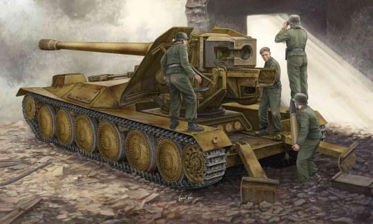 Trumpeter - 12,8cm PAK 44 Waffenträger Krupp 1