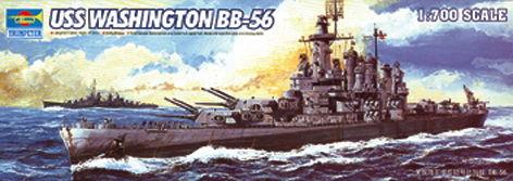 Trumpeter - USS Washington BB-56