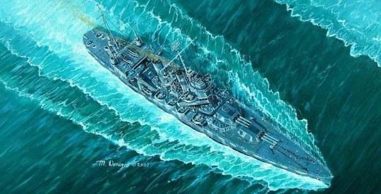 Trumpeter - USS Vincennes CA-44