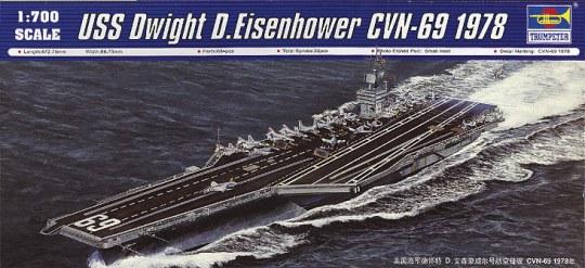 Trumpeter - USS Dwight D. Eisenhower CVN-69 1978
