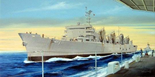 Trumpeter - AOE Fast Combat Support Ship USS Sacram.