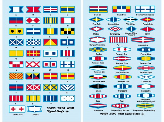 Trumpeter - WWII Signal Flags